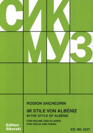 Im Stile von Albéniz - Violine Rodion Shchedrin Partition laflutedepan