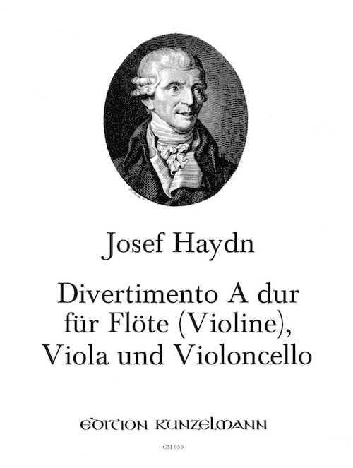Divertimento A-Dur -Flöte Violine Viola Violoncello - laflutedepan.com