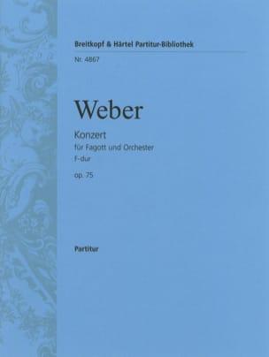 Fagottkonzert F-Dur op. 75 - Partitur laflutedepan