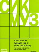 Sonata n° 2 SCHNITTKE Partition Violon - laflutedepan
