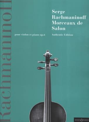Morceaux de Salon, Opus 6 RACHMANINOV Partition Violon - laflutedepan