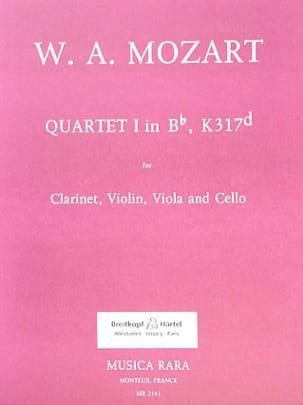 Quartet n° 1 in Bb, KV 317d -Clarinet violin viola cello laflutedepan