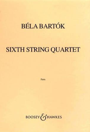 Quatuor à cordes n° 6 -Parts BARTOK Partition Quatuors - laflutedepan