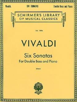 6 Sonatas - String bass VIVALDI Partition Contrebasse - laflutedepan