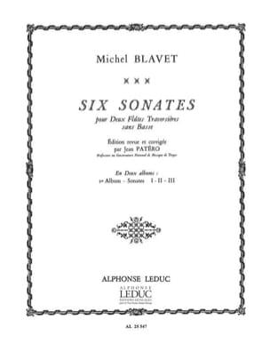 6 Sonates - Volume 1 - 2 Flûtes Michel Blavet Partition laflutedepan