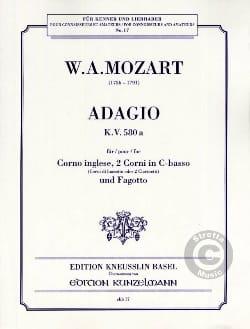 Adagio KV 580a -Corno ingelse, 2 Corni in C-basso Fagotto laflutedepan