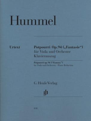 Pot-pourri Fantaisie op. 94 pour alto et orchestre HUMMEL laflutedepan