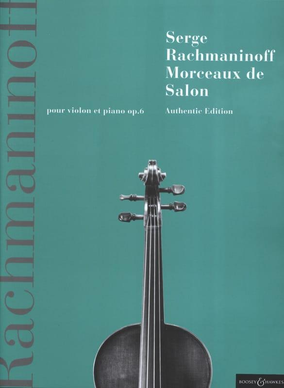 Morceaux de Salon, Opus 6 - RACHMANINOV - Partition - laflutedepan.com