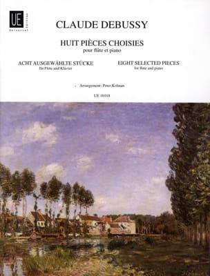8 Pièces choisies - Flûte et piano DEBUSSY Partition laflutedepan
