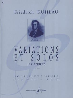 Variations et Solos Opus 10bis Friedrich Kuhlau Partition laflutedepan