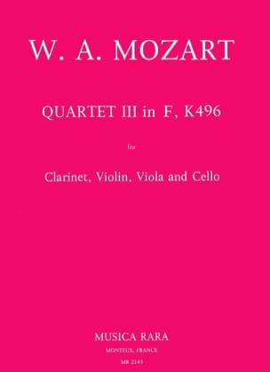 Quartet n° 3 in F, KV 496-Clarinet violin viola cello laflutedepan