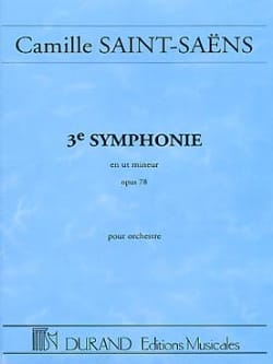 Symphonie n° 3 op. 78 - Conducteur SAINT-SAËNS Partition laflutedepan