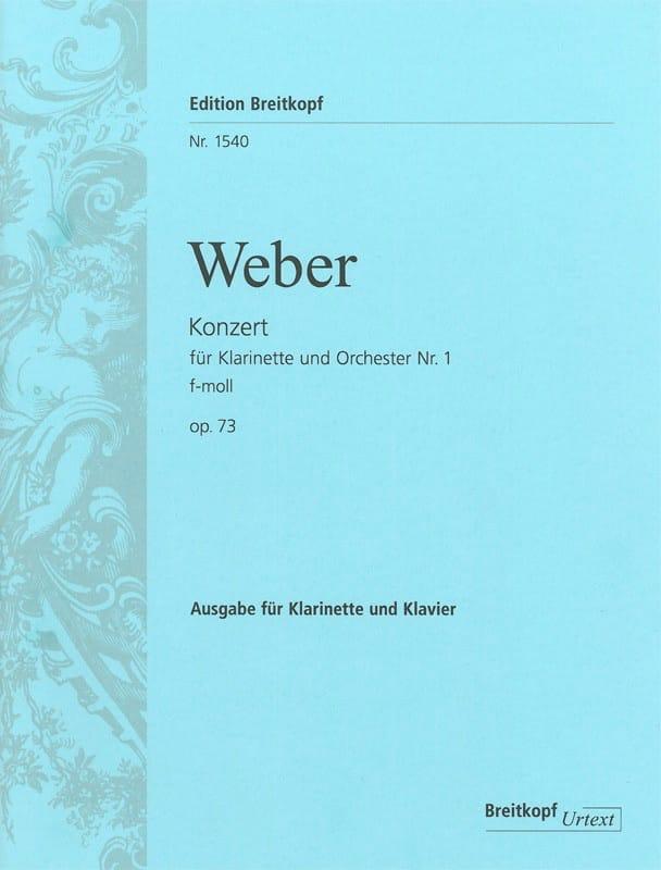 Konzert für Klarinette und Orchester Nr. 1 f-moll op. 73 - Klarinette Klavier - laflutedepan.com