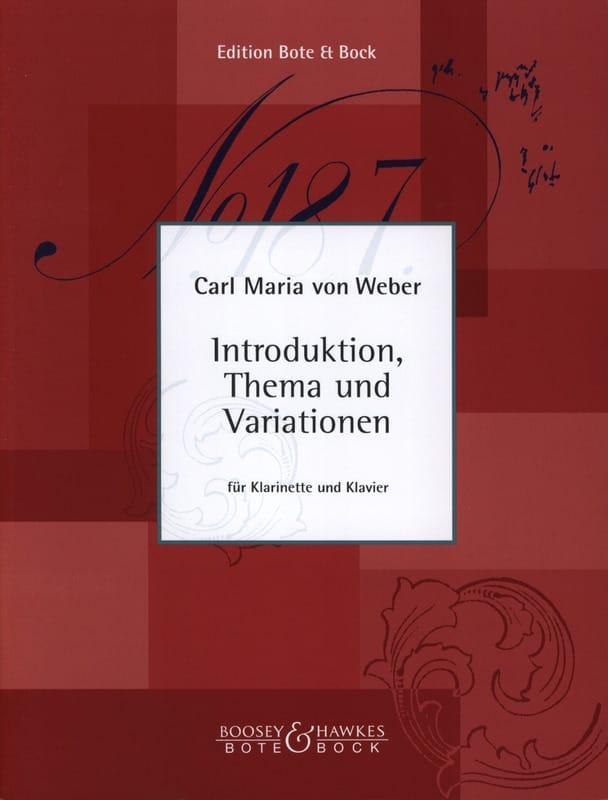 Introduktion, Thema und Variationen -Klarinette Klavier - laflutedepan.com