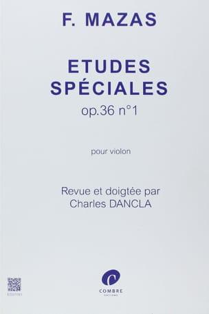 Etudes Spéciales Opus 36 N° 1 MAZAS Partition Violon - laflutedepan