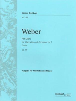 Konzert für Klarinette und Orchester Nr. 2 Es-Dur op. 74 - Klarinette Klavier laflutedepan