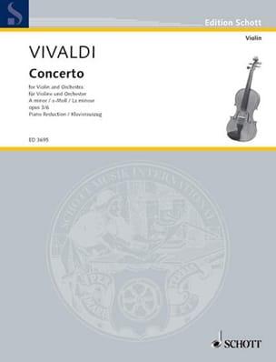 VIVALDI - Concerto the Minor Op. 3 N ° 6 - Partition - di-arezzo.com