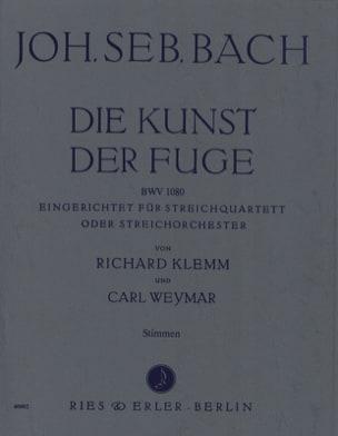 Die Kunst der Fuge -Streichquartett o. Streichorch. - Stimmen laflutedepan