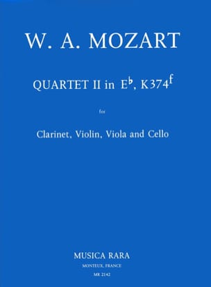 Quartet n° 2 in Eb, KV 374f - Clarinet violin viola cello laflutedepan