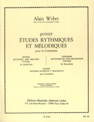 15 Etudes Rythmiques et Mélodiques Alain Weber Partition laflutedepan