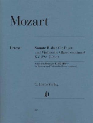 Sonate en Si bémol majeur MOZART Partition Duos - laflutedepan