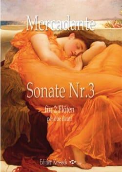 Sonate n° 3 - 2 Flûtes Saverio Mercadante Partition laflutedepan