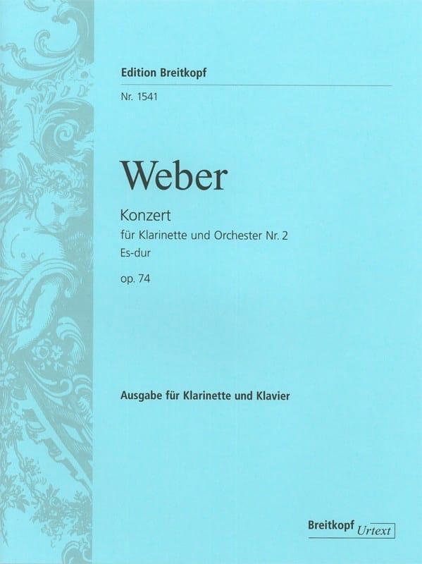 Konzert für Klarinette und Orchester Nr. 2 Es-Dur op. 74 - Klarinette Klavier - laflutedepan.com