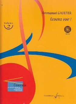 Ecoutez Voir ! Volume 2 Emmanuel Gaultier Partition laflutedepan