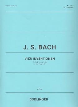 4 Inventions - Violon et Alto BACH Partition 0 - laflutedepan