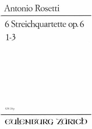 6 Streichquartett op. 6 - Bd. 1 1-3 -Partitur - laflutedepan.com