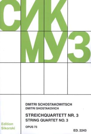 Streichquartett Nr. 3 op. 73 - Stimmen CHOSTAKOVITCH laflutedepan