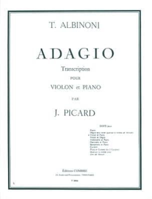 Adagio - Violon ALBINONI Partition Violon - laflutedepan