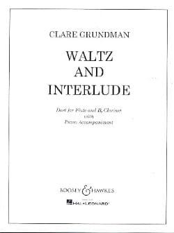 Waltz and Interlude - Flute clarinet piano Clare Grundman laflutedepan