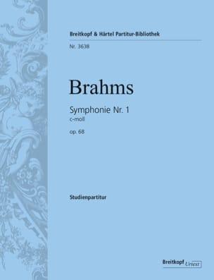 Symphonie N° 1 - Conducteur BRAHMS Partition laflutedepan