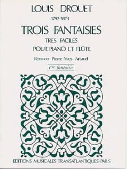 3 Fantaisies n° 1 op. 38 Louis Drouet Partition laflutedepan
