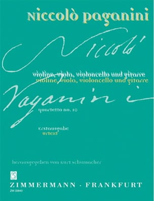Quartetto Nr. 10 -Partitur + Stimmen - PAGANINI - laflutedepan.com
