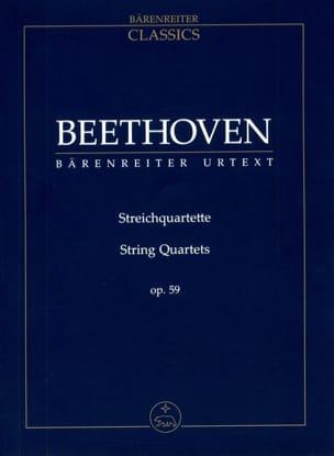 Streichquartette Op. 59 BEETHOVEN Partition laflutedepan