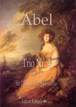 Trio op. 16 n° 4 Carl Friedrich Abel Partition Trios - laflutedepan