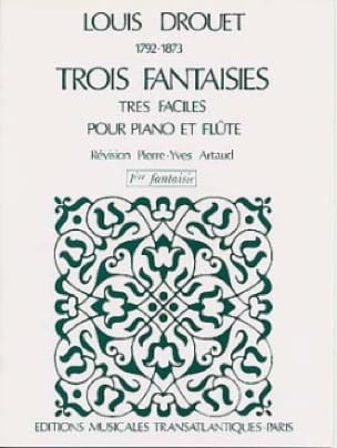 3 Fantaisies n° 1 op. 38 - Louis Drouet - laflutedepan.com
