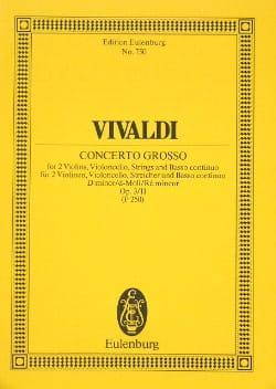 Concerto en Ré Mineur VIVALDI Partition Petit format - laflutedepan