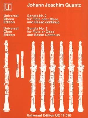 Sonate Nr. 2 für Flöte o. Oboe und Bc QUANTZ Partition laflutedepan