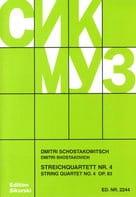 Streichquartett Nr. 4 op. 83 - Stimmen CHOSTAKOVITCH laflutedepan