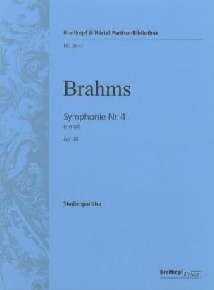 Symphonie N° 4 E-Moll Op. 98 BRAHMS Partition laflutedepan