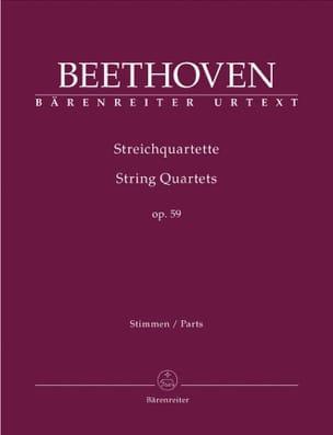 Streichquartette Op. 59 BEETHOVEN Partition Quatuors - laflutedepan