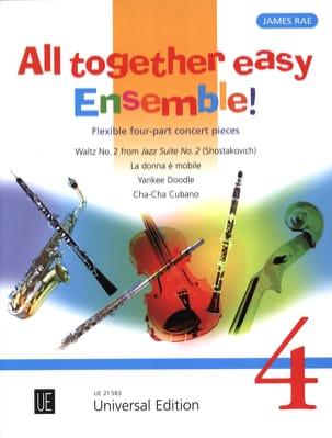 All together easy Ensemble! - Volume 4 James Rae laflutedepan