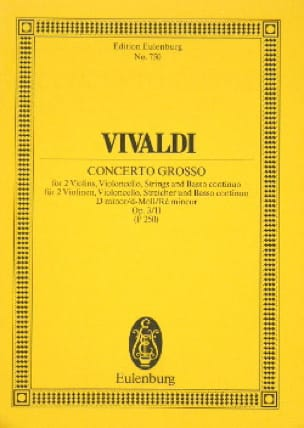 Concerto en Ré Mineur - VIVALDI - Partition - laflutedepan.com