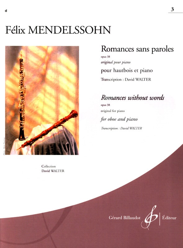 Romances Sans Paroles Volume 3 : Opus 38 - laflutedepan.com