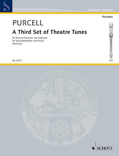 A Third Set Of Theatre Tunes - PURCELL - Partition - laflutedepan.com