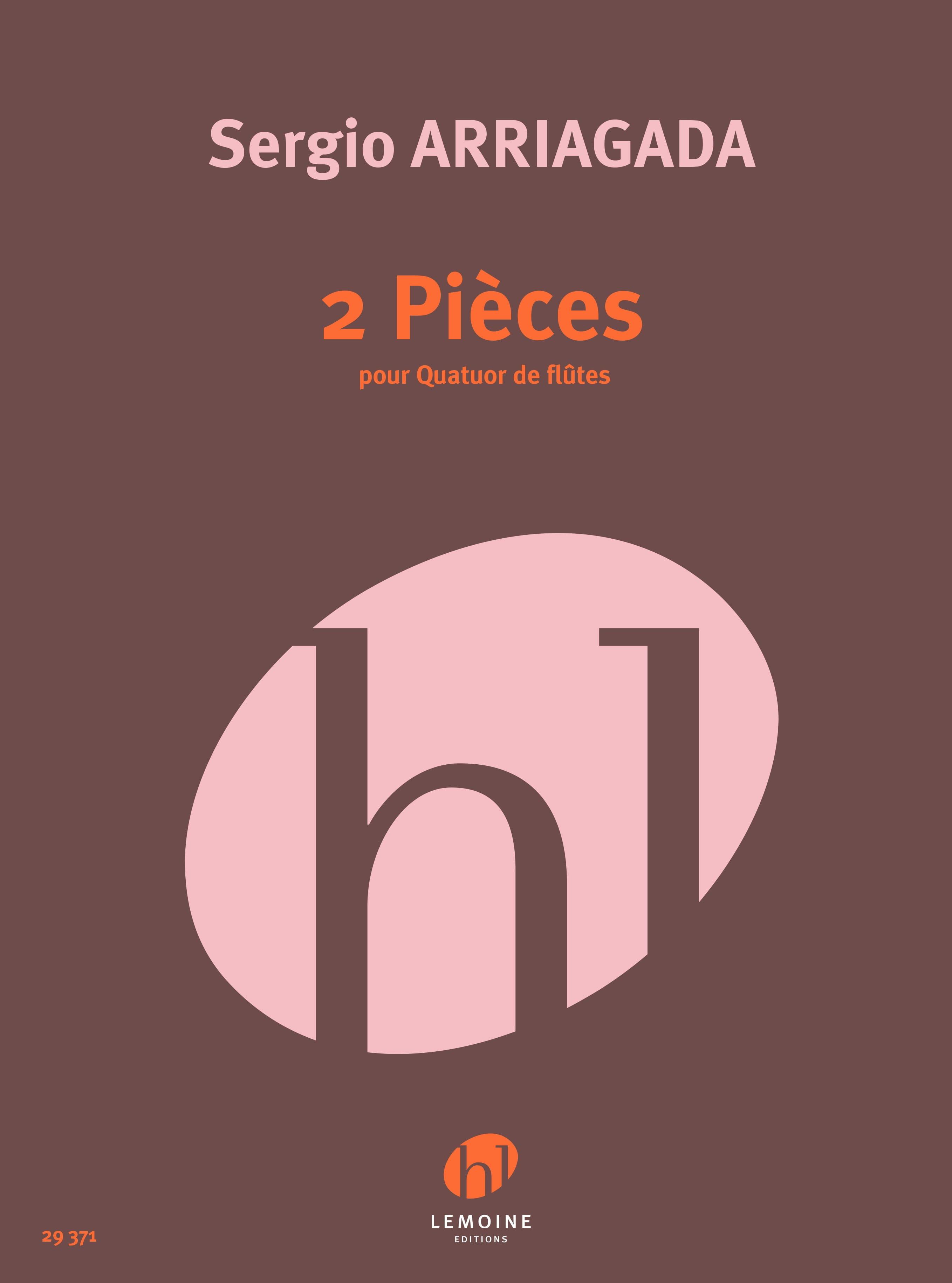 2 Pièces - 4 Flûtes - Sergio Arriagada - Partition - laflutedepan.com