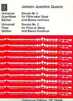 Sonate Nr. 2 - Flöte o. Oboe und Bc - QUANTZ - laflutedepan.com